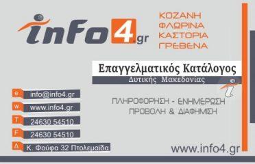 info4.gr – Ψηφιακός Επαγγελματικός Κατάλογος Δυτικής Μακεδονίας